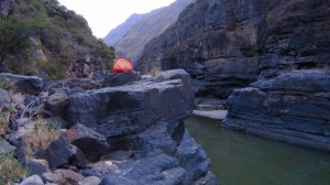 Great camping spots in the canyons of the Mantaro.