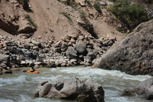Ah, finally some whitewater and canyons!  This is the first section of serious whitewater below Huancayo.