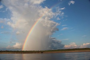 The big Amazonian sky, just below the confluence of Ucayali and Maranon Rivers, now we are on the Amazon baby!