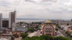 Bird's eye view of the Manaus Opera House