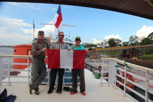 Team Kayak the Amazon leaving Peru behind on October 14th.
